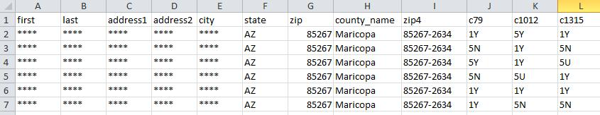 Mailing List in Excel / CSV File Format