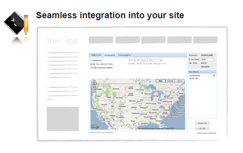 The DataWidget List API enables you to sell mailing lists on your own web-to-print website.