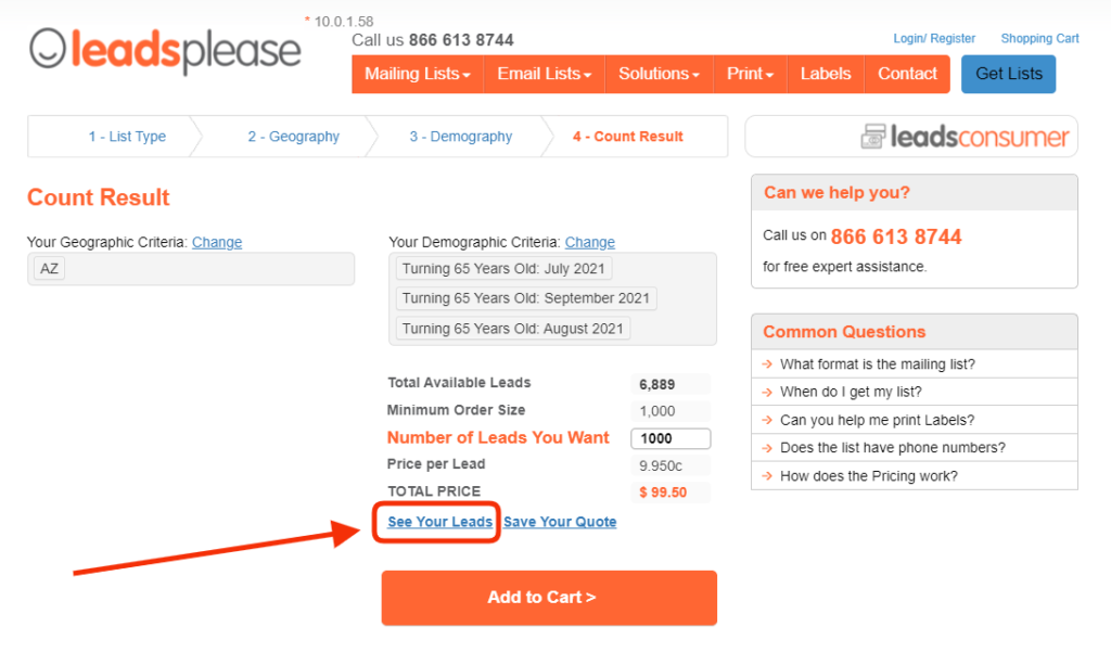 You can Preview your LeadsPlease Consumer Mailing List before you buy it! Now you can see exactly what you're getting before you place an order.